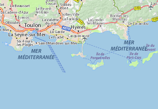 Map of Giens - Michelin Giens map - ViaMichelin