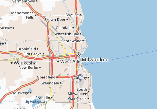 Map of Milwaukee - Michelin Milwaukee map - ViaMichelin