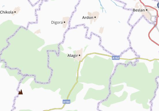 Carte-Plan Alagir
