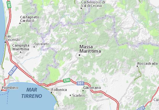 Milano Marittima Cartina Italia.Mappa Michelin Massa Marittima Pinatina Di Massa Marittima Viamichelin