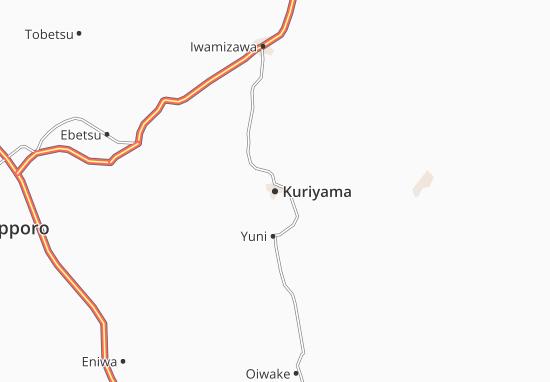 Karte Stadtplan Kuriyama