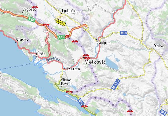 Metković Map