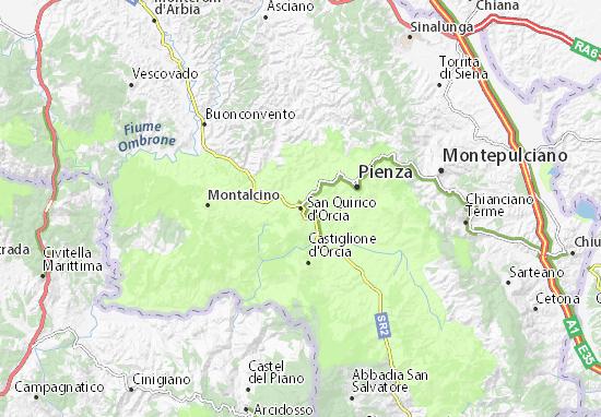 Mapas-Planos San Quirico d'Orcia