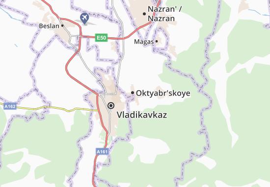 Mapa Plano Oktyabr'skoye
