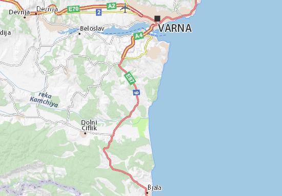 Bliznaci Map Detailed Maps For The City Of Bliznaci ViaMichelin - Varna map