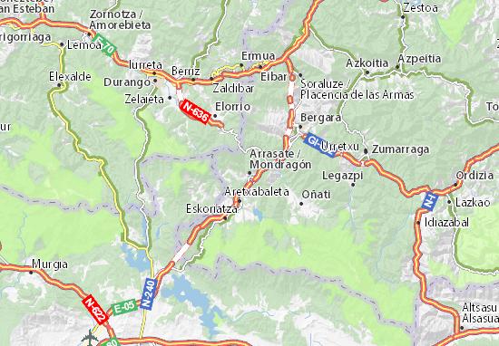 Karte Stadtplan Mondragón