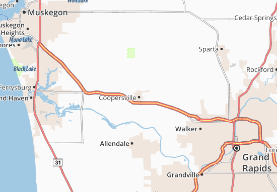 Coopersville Map