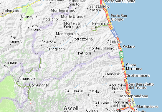 Karte Stadtplan Petritoli