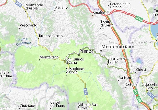 Mappe-Piantine Pienza