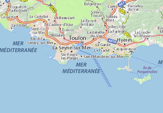 Saint-Mandrier-sur-Mer Map
