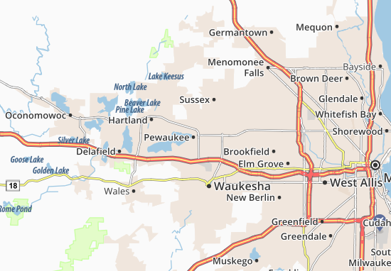 Pewaukee Map