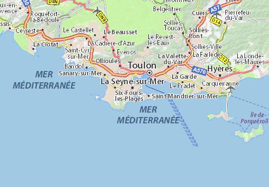 Map Of Les Sablettes Michelin Les Sablettes Map Viamichelin