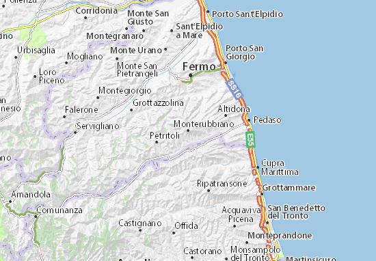 Karte Stadtplan Monterubbiano