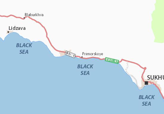 Primorskoye Map