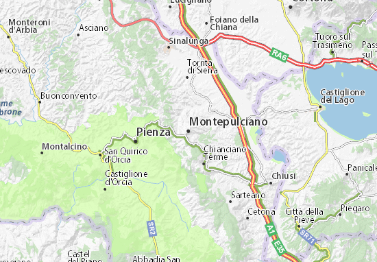 Cartina Toscana Siena.Michelin Montepulciano Map Viamichelin