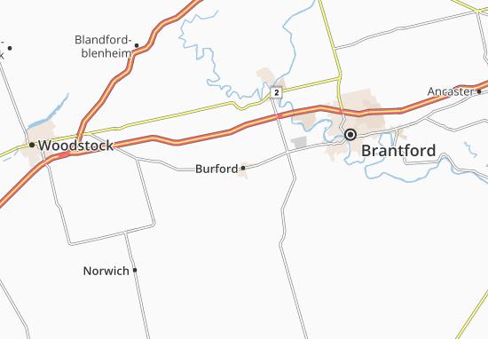 Kaart Plattegrond Burford