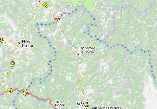 Leposavić Map