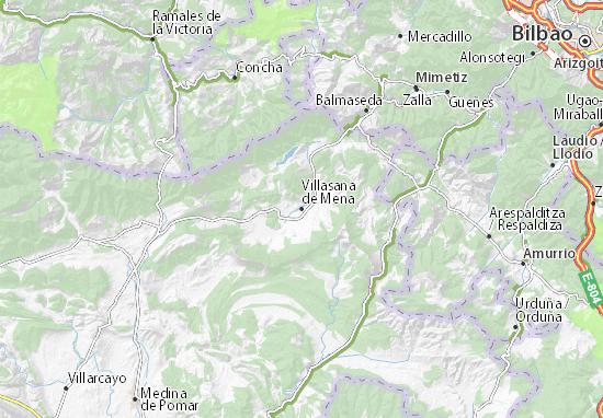 Villasana de Mena Map