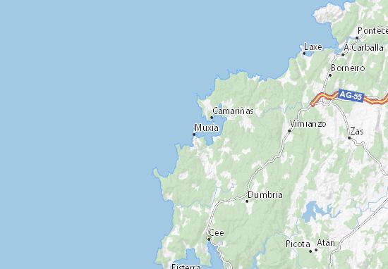 Muxía Map
