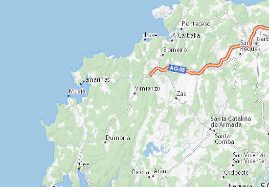 Vimianzo Map