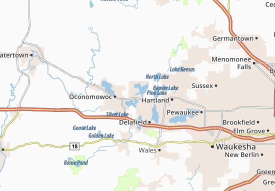 Okauchee Map