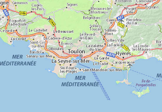 Carte-Plan Toulon