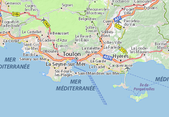 Map of Toulon Michelin Toulon map ViaMichelin – Toulon Tourist Map