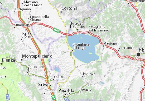 Castiglione del Lago Map: Detailed maps for the city of Castiglione ...