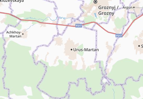 Mapa Plano Urus-Martan