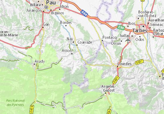 Carte-Plan Lestelle-Bétharram