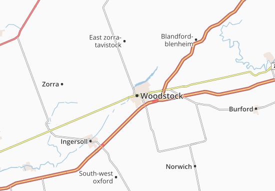 Map of Woodstock  Michelin Woodstock map  ViaMichelin