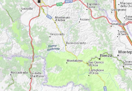 Mappe-Piantine Buonconvento