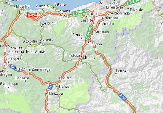 Kaart Plattegrond Tolosa