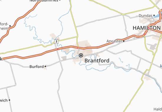 Carte-Plan Brantford