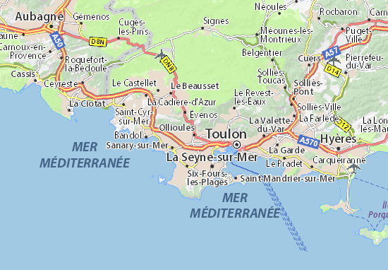 Ollioules Map