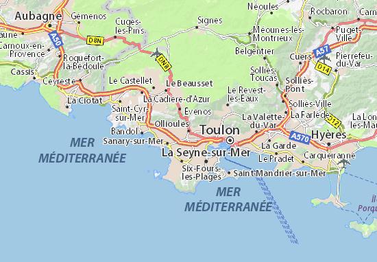 Karte Stadtplan Ollioules