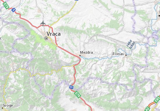 Mezdra Map