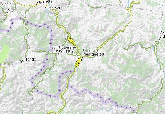 Map of saint jean pied de port michelin saint jean pied - How to get to saint jean pied de port ...