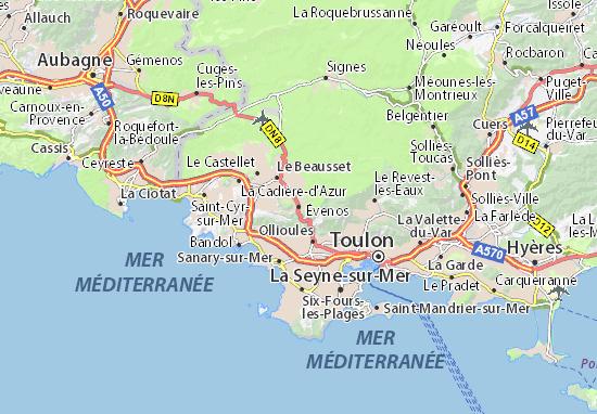 Évenos Map