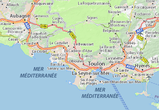 Kaart Plattegrond Évenos
