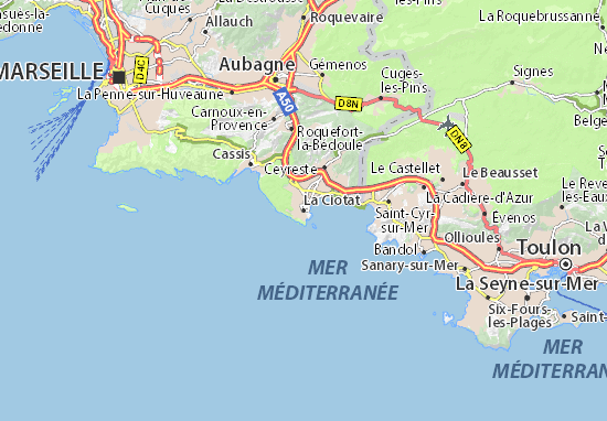 map of la ciotat michelin la ciotat map viamichelin. Black Bedroom Furniture Sets. Home Design Ideas