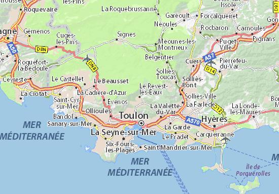 Mapas-Planos Le Revest-les-Eaux