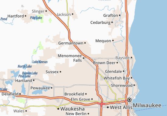 Menomonee Falls Map