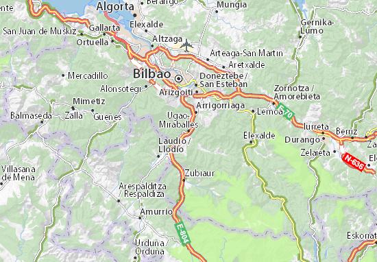 Ugao-Miraballes Map