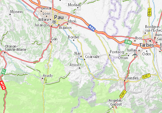 Karte Stadtplan Nay