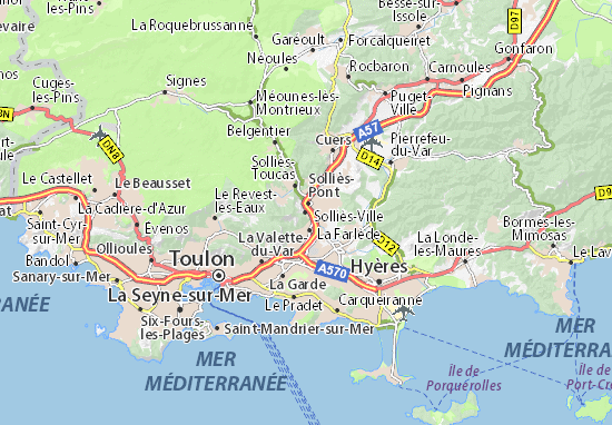 Carte-Plan Solliès-Ville