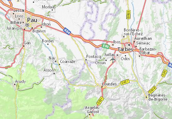 Pontacq Map