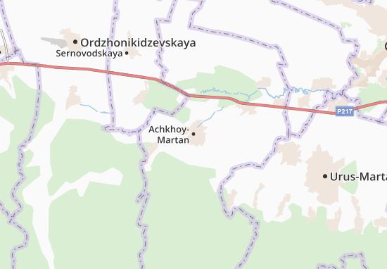 Carte-Plan Achkhoy-Martan