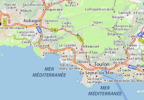 Carte-Plan La Cadière-d'Azur