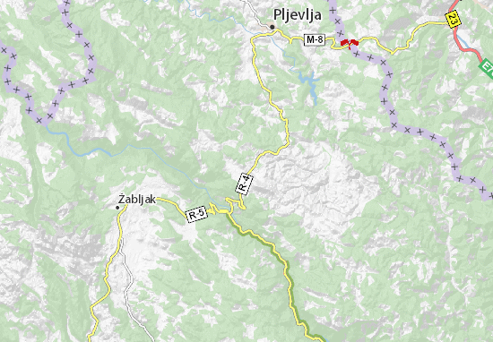 Karte Stadtplan Kosanica